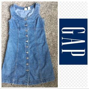 Gap Denim dress sleeveless button front size 1